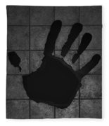 Black Hand Fleece Blanket