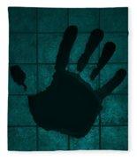Black Hand Turquoise Fleece Blanket