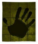 Black Hand Yellow Fleece Blanket