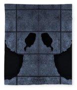 Black Hands Cyan Fleece Blanket
