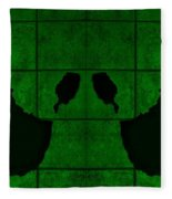 Black Hands Green Fleece Blanket