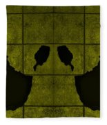 Black Hands Yellow Fleece Blanket