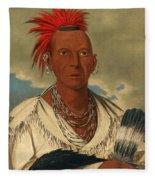 Black Hawk. Prominent Sauk Chief. Sauk And Fox Fleece Blanket