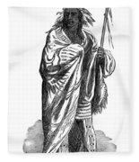 Black Hawk, Sauk Indian Leader Fleece Blanket