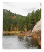 Black Hills Lake Fleece Blanket
