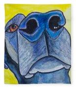 Black Lab Nose Fleece Blanket
