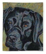 Black Labrador Fleece Blanket