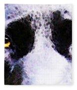 Black Labrador Retriever Dog Art - Lab Eyes Fleece Blanket