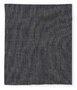 Black Linen Texture Fleece Blanket