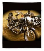 Black Motorcycle  Fleece Blanket