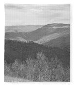Black Mountain - Kentucky Bw Fleece Blanket