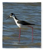 Black Necked Stilt Fleece Blanket