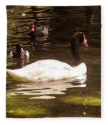 Black-necked Swan Fleece Blanket