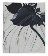Black Orchid Fleece Blanket