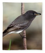 Black Phoebe Fleece Blanket