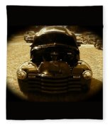Black Pickup Truck Fleece Blanket