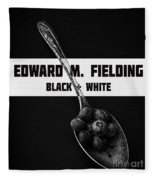 Black Plus White Book Cover Fleece Blanket