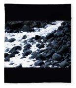 Black Rocks Along The Puna Coast Fleece Blanket