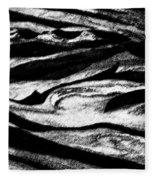 Black Sand  Fleece Blanket