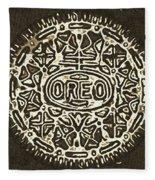 Black Sepia Oreo Fleece Blanket