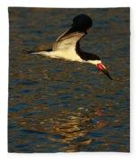 Black Skimmer Reflections Fleece Blanket