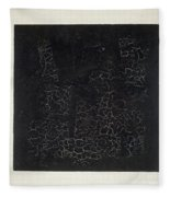 Black Square Fleece Blanket