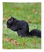 Black Squirrel Fleece Blanket