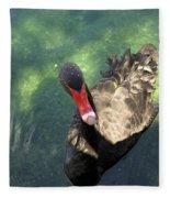 Black Swan 3 Fleece Blanket