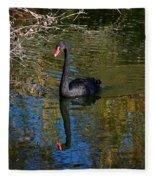 Black Swan 4 Fleece Blanket