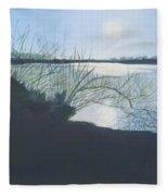 Black Swan Lake Fleece Blanket
