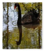 Black Swan Series Iv Fleece Blanket