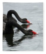 Black Swans Australia Fleece Blanket