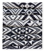 Black Thai Fabric 02 Fleece Blanket