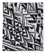 Black Thai Fabric 03 Fleece Blanket