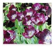 Black Tulips Fleece Blanket