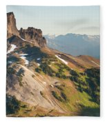 Black Tusk Mountain And Helm Lake Fleece Blanket