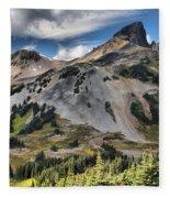 Black Tusk Over Alpine Meadows Fleece Blanket
