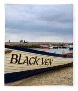 Black Ven Fleece Blanket
