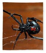 Black Widow Spider Fleece Blanket