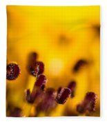 Blackweyed Susan Stamens Fleece Blanket