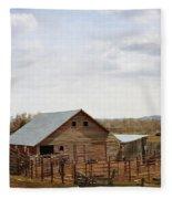 The Blackfoot Barn Fleece Blanket