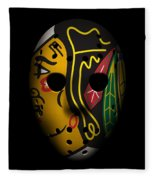 Blackhawks Goalie Mask Fleece Blanket