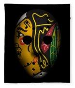 Blackhawks Goalie Mask Fleece Blanket