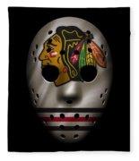 Blackhawks Jersey Mask Fleece Blanket