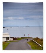 Blackrock Lighthouse, Off Rosses Point Fleece Blanket