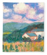 Blacksburg Clouds Fleece Blanket