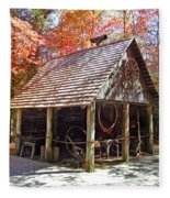 Blacksmith Shop In The Fall Fleece Blanket