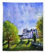 Blair Castle Bridge Scotland Fleece Blanket