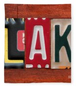 Blake License Plate Name Sign Fun Kid Room Decor Fleece Blanket