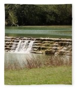 Blanco River Weir Fleece Blanket